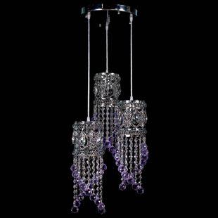 Люстра барная Капель №9 фиолетовая