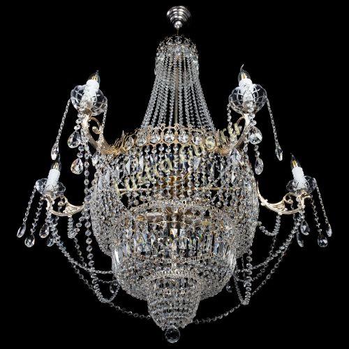 Люстра Елизавета, диаметр - 1000 мм, высота - 1500 мм Гусь Хрустальный