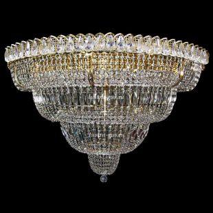 Люстра большого диаметра Хрустальный Водопад 17 ламп