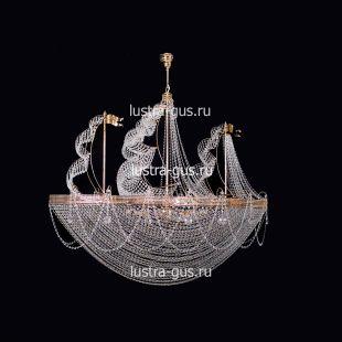 Люстра большого диаметра Хрустальный Корвет