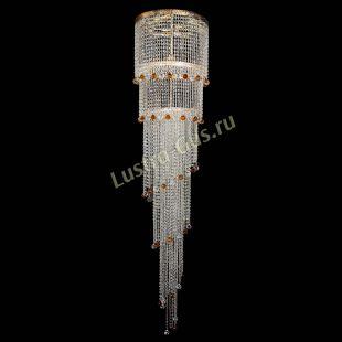Каскадная люстра высотой от 2 м Милан каскад шар чайный