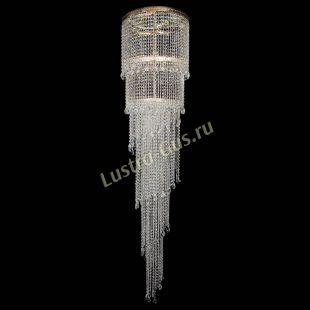 Каскадная люстра высотой от 2 м Милан каскад журавлик