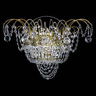 Бра из хрусталя Агата №3 под бронзу с зеркалом