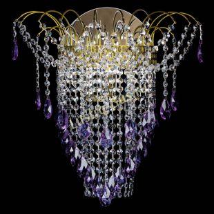 Бра Агата №4 под бронзу Фиолетовая