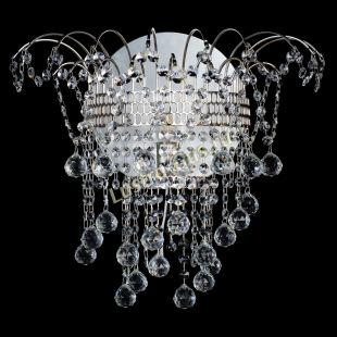 Бра из хрусталя Акация шар с зеркалом