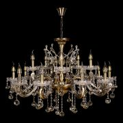 Люстра Венеция №1 - 15 ламп под бронзу