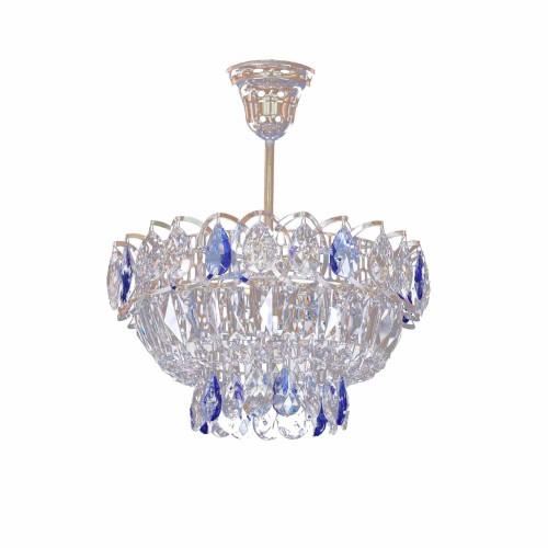 Люстра Катерина 1 лампа подвесная цветная