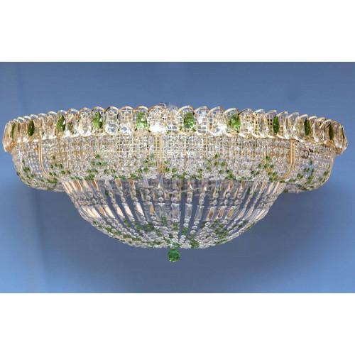Люстра Кольцо 1000 мм Купол цветная в Санкт-Петербурге Гусь Хрустальный