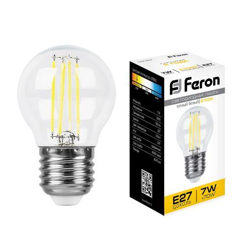 Лампа светодиодная Ferron LB-52 Шарик, белый теплый свет, 7 W Гусь Хрустальный