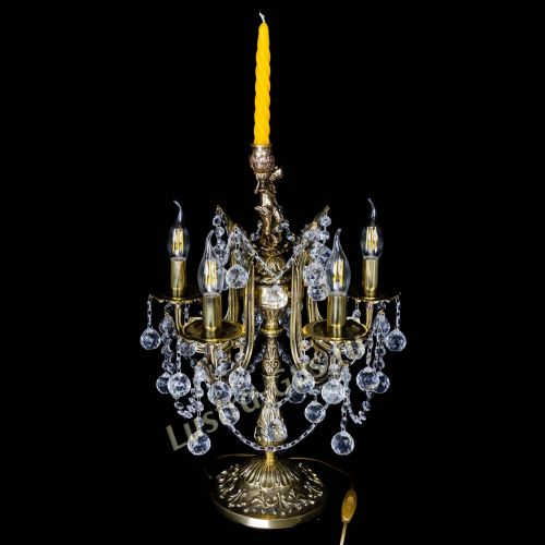Бронзовая настольная лампа Луиза №5/2 шар в Санкт-Петербурге Гусь Хрустальный