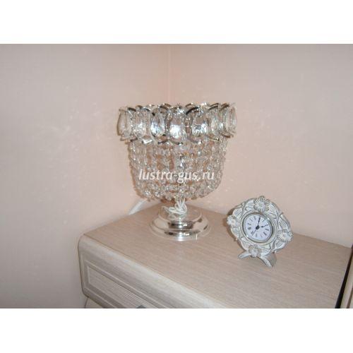 Настольная лампа Катерина № 2, цвет серебро - фото покупателя Гусь Хрустальный