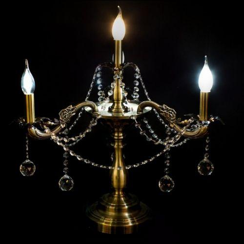 Настольная лампа Винтаж №3 под бронзу Гусь Хрустальный