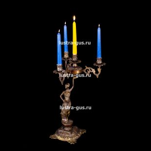Подсвечник из бронзы Изабелла богиня 4 свечи
