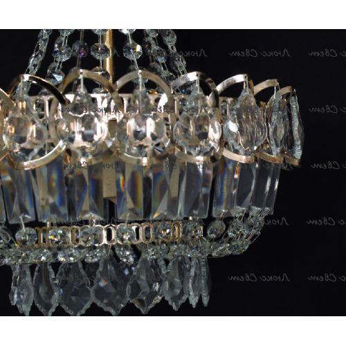 Люстра Натали 1 лампа дубик в Санкт-Петербурге Гусь Хрустальный