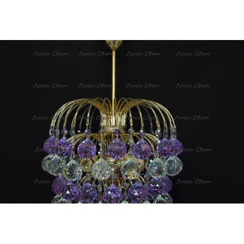 Люстра Хрустальные брызги шар 40 мм фиолетовая в Санкт-Петербурге Гусь Хрустальный