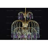 Люстра Хрустальные брызги с подвесом журавлик фиолетовый в Санкт-Петербурге