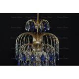 Люстра Хрустальные брызги с подвесом журавлик синий в Санкт-Петербурге