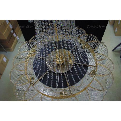 Люстра Лотос с подвесом диаметр 1000 мм высота1500 мм в Санкт-Петербурге Гусь Хрустальный