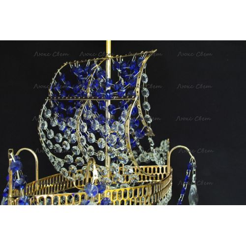 Люстра Корвет 1 ламповый синий в Санкт-Петербурге Гусь Хрустальный