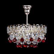 Люстра Астра шар красная 1 лампа