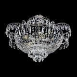 Люстра Камея с подвесом, диаметр 560 мм, серебро, Люстры Гусь Хрустальный