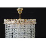 Люстра Капель 5 ламп конус 40 см длинная