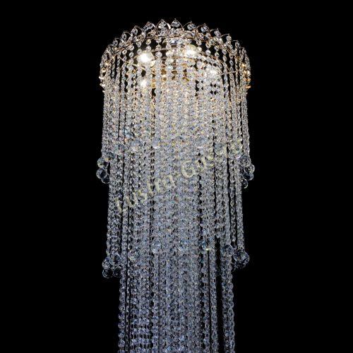 Люстра Капель 5 ламп шар 30 см длинная   в Санкт-Петербурге Гусь Хрустальный