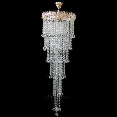 Люстра Капель 5 ламп шар 40 мм длинная Гусь Хрустальный