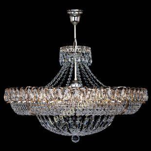 Подвесная хрустальная люстра Кольцо Классика 6 ламп с подвесом