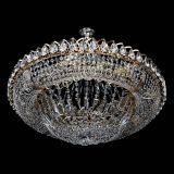 Люстра Кольцо Классика подвесом, диаметр - 700 мм, цвет - золото, Люстры Гусь Хрустальный