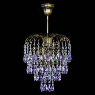 Люстра подвесная Лора №3 под бронзу фиолетовая