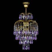 Люстра Лора №3 журавлик Фиолетовая под бронзу