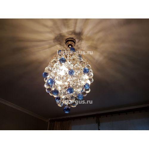 Люстра Лора Шар 40, золото, фото покупателя Гусь Хрустальный