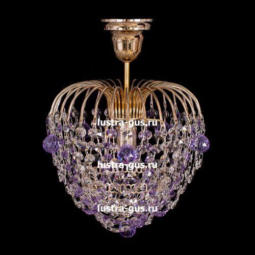 Люстра Малинка шар фиолетовая в Санкт-Петербурге Гусь Хрустальный