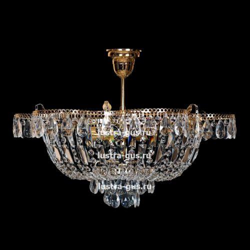 Люстра Ромашка с подвесом, диаметр 560 мм, золото, Люстры Гусь Хрустальный