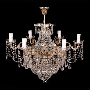 Подвесная рожковая люстра со свечами Светлана