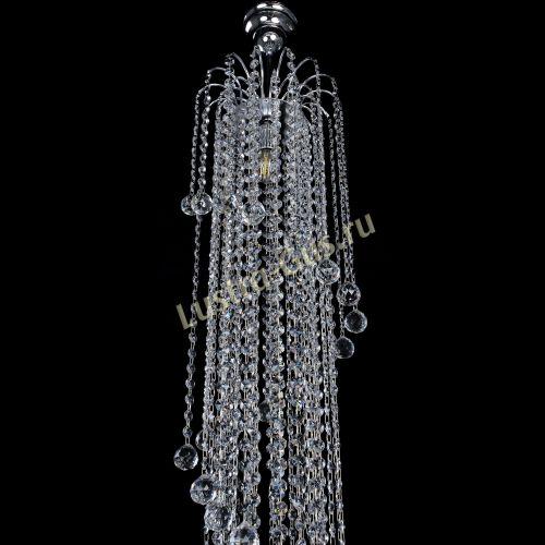 Люстра Весна длинная, высота - 1500 мм, цвет - серебро , Люстры Гусь Хрустальный