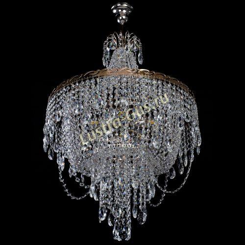 Люстра Султан, диаметр - 560 мм, цвет - золото Гусь Хрустальный