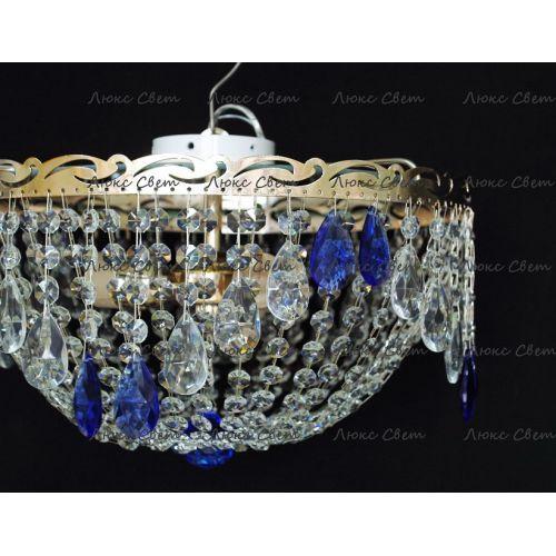 Люстра Анжелика журавлик синяя в Санкт-Петербурге Гусь Хрустальный
