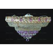 Люстра Кольцо пирамида шар 40 мм фиолетовая