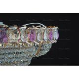 Люстра Кольцо пирамида шар 40 мм фиолетовая в Санкт-Петербурге