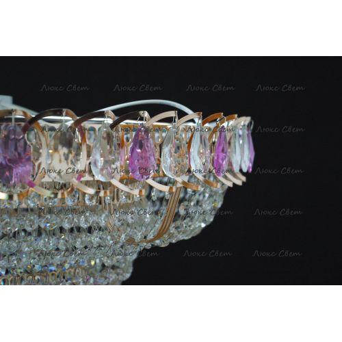Люстра Кольцо пирамида шар 40 мм фиолетовая в Санкт-Петербурге Гусь Хрустальный