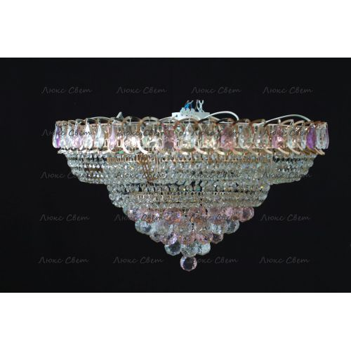 Люстра Кольцо пирамида шар 40 мм розовая в Санкт-Петербурге Гусь Хрустальный