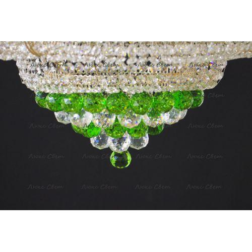 Люстра Кольцо пирамида шар 40 мм зеленая в Санкт-Петербурге Гусь Хрустальный