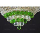 Люстра Кольцо пирамида шар 40 мм зеленая в Санкт-Петербурге