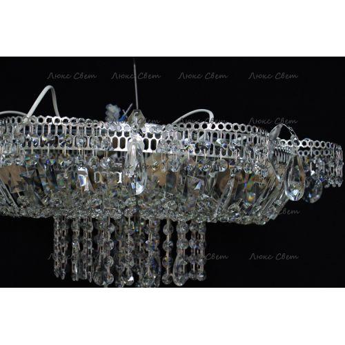 Люстра Ромашка 6 ламп, цвет фурнитуры: серебро, Люстры Гусь Хрустальный
