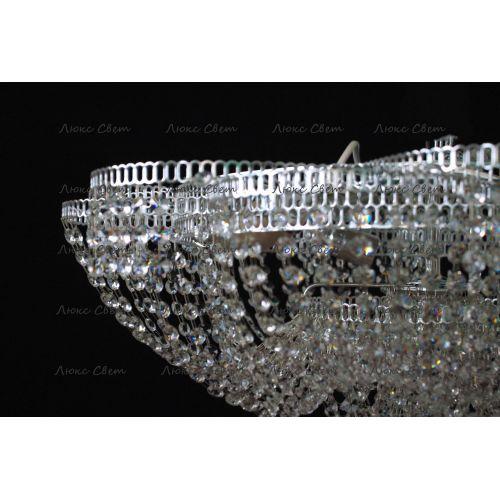 Люстра Лотос Пион, цвет фурнитуры: серебро, Люстры Гусь Хрустальный