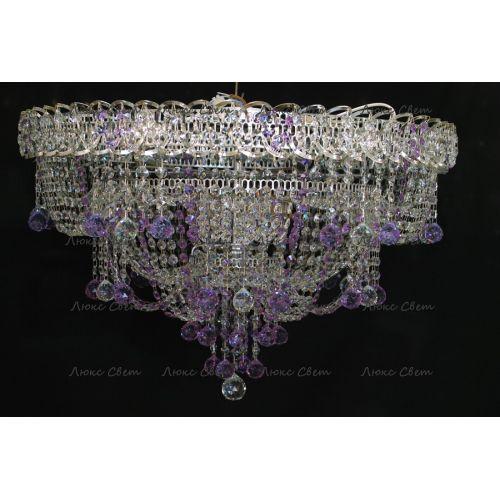 Люстра Водопад Софья фиолетовая в Санкт-Петербурге Гусь Хрустальный