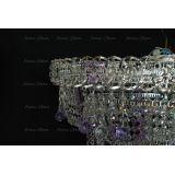 Люстра Водопад Софья фиолетовая в Санкт-Петербурге