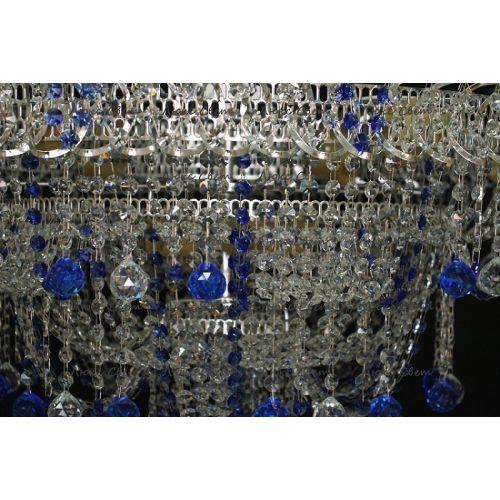 Люстра Водопад Софья синяя в Санкт-Петербурге Гусь Хрустальный